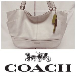 Coach Park Leather Carrie Tote
